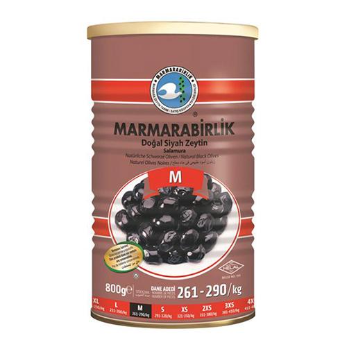 Buy Marmarabirlik Gemlik Black Olives M Super (800 gr) Can Online
