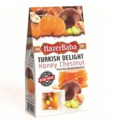 Hazerbaba Honey Chesnut Mixed Nuts Turkish Delight (100 gr)
