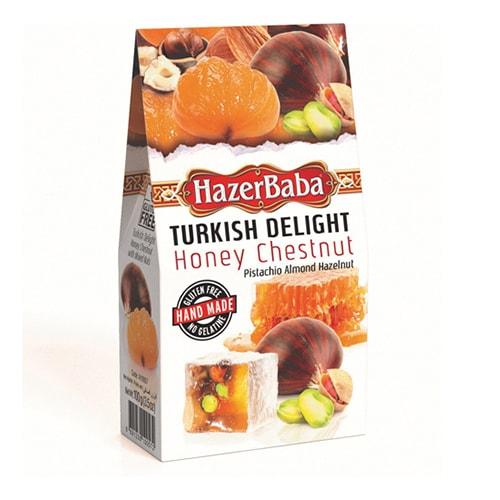 Hazerbaba Honey Chesnut Mixed Nuts Turkish Delight 100gr