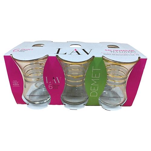 Lav Tea Glass Demet Gold Trim